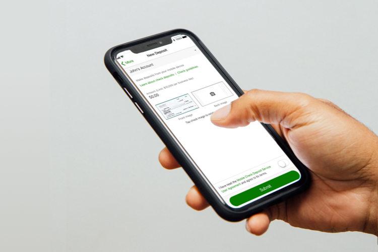 Image of mobile check deposit