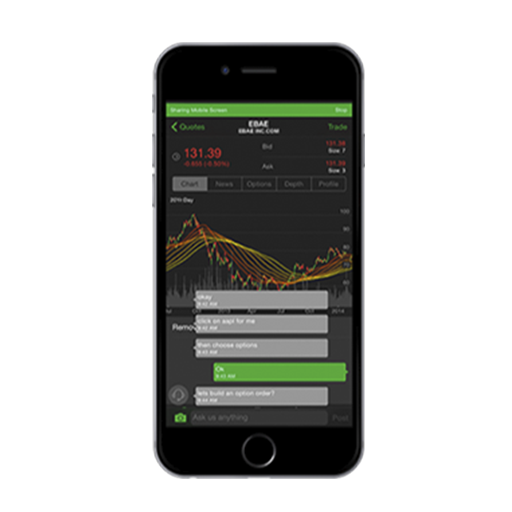 In-app chat on thinkorswim mobile
